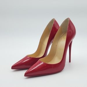 Red Christian Louboutins Pigalle Follies 37.5 NEW